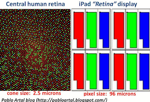 Retina humana vs Retina iPad