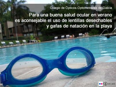 Aconsejan el uso de gafas de natación en la playa para proteger nuestra salud ocular