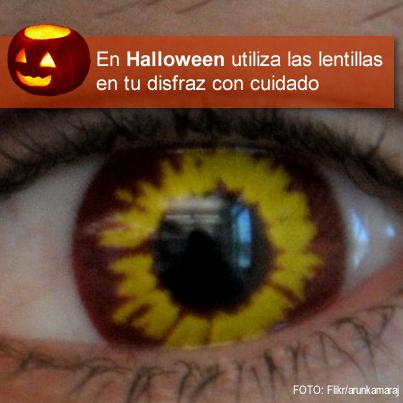En Halloween utiliza las lentillas con cuidado