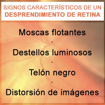 Signos desprendimiento retina